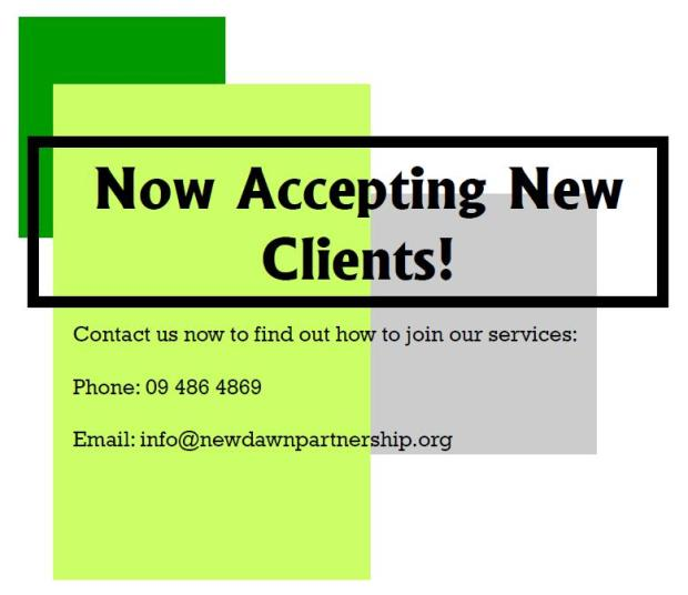 Flyer- Accepting new clients